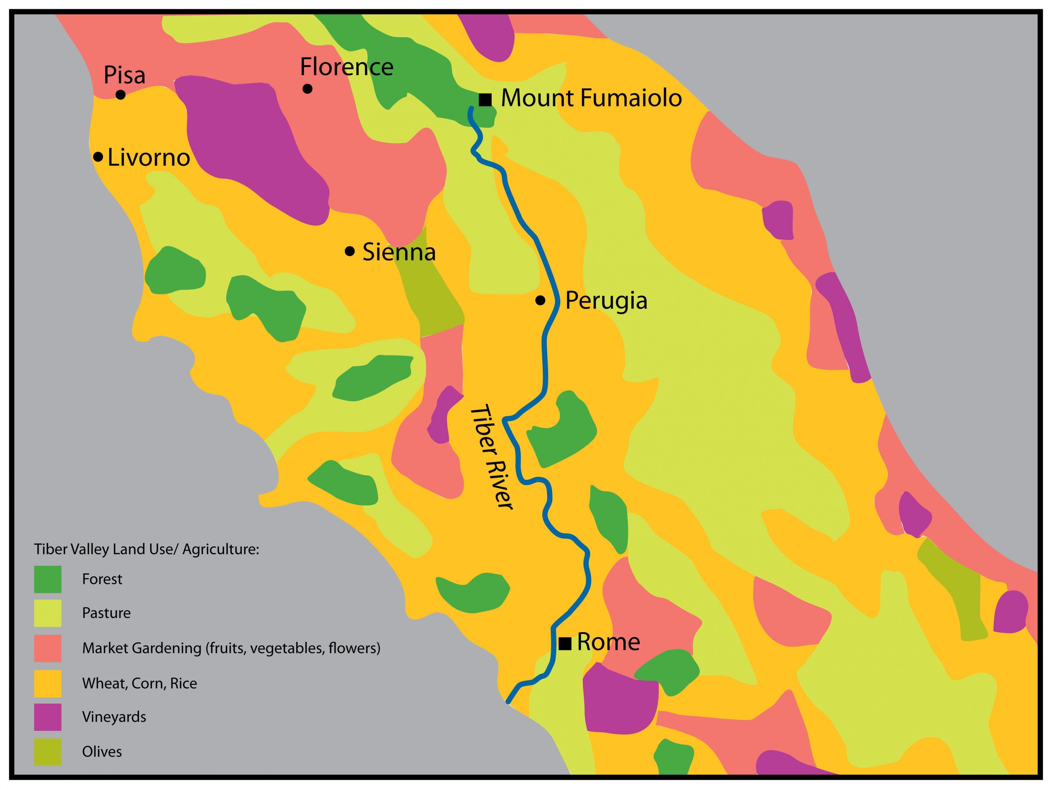 Drevni Rim Karta Rijeke Tiber Fizicka Karta Drevnog Rima Lazio