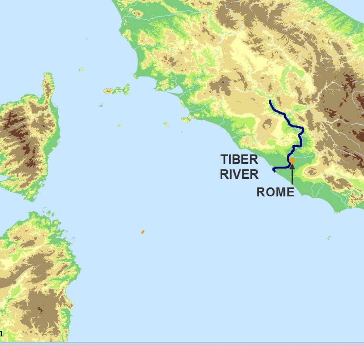 Tiber Karti Rijeke Tiber Kartici Lazio Italija